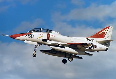 USA - Navy Douglas TA-4J Skyhawk  El Centro - NAF (NJK / KNJK) USA - California, January 1999 Reg: 154619 Code: A-750 Cn: 13737