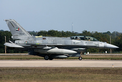 United Arab Emirates - Air Force Lockheed Martin F-16F Fighting Falcon Fort Worth - NAS JRB / Carswell Field (AFB) (FWH / NFW) USA - Texas, October 27, 2009   Reg: 3002 Cn: RF-2 Aircraft operated by Lockheed Martin for weapons system tests.
