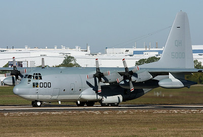 "USA - Marines Lockheed Martin KC-130T Hercules (L-382) Fort Worth - NAS JRB / Carswell Field (AFB) (FWH / NFW) USA - Texas, October 27, 2009   Reg: 165000 Code: QH-000 Cn: 382-5303 VMGR-234 ""Rangers"""