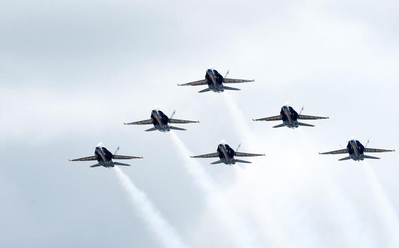 Blue Angle flyover