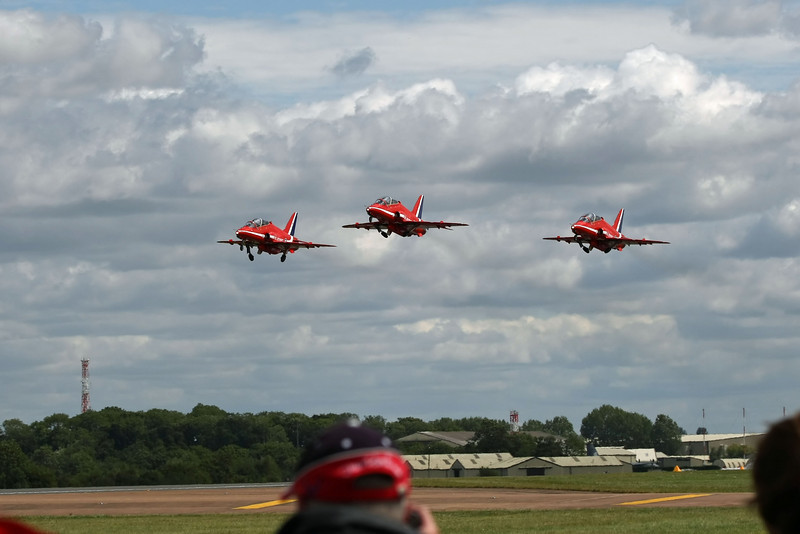 Airshow Fairford 2009 - The Red Arrows - Hawk T1/T1As (RAF)