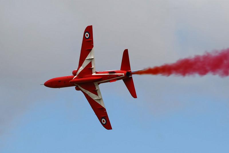 Airshow Fairford 2009 - The Red Arrows - Hawk T1/T1As (RAF)