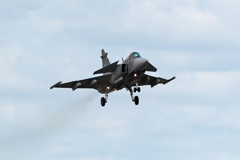 Airshow Fairford 2009 - Saab JAS39C EBS HU Gripen (Hungarian Defence Forces)