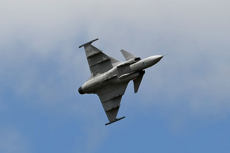 Airshow Fairford 2009 - Saab JAS39C Gripen - Swedish Air Force