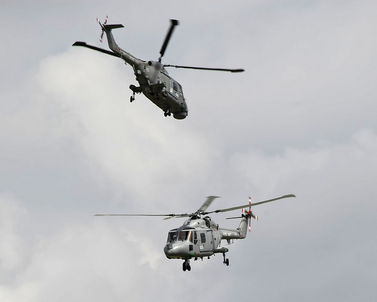 Airshow Fairford 2009 - The Black Cats - Westland Lynx HAS3S & HMA8
