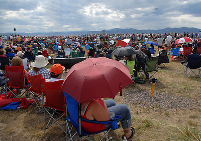 Crowds filled areas between the taxiways to watch Saturday's Colorado Sport International Airshow at Rocky Mountain Metropolitan Airport. August 28, 2010 staff photo/David R. Jennings