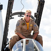 German Air Force pilot Axel Hoppe sits in the cockpit of his Tornado fighter during Saturday's Colorado Sport International Airshow at Rocky Mountain Metropolitan Airport.<br /> August 28, 2010<br /> staff photo/David R. Jennings