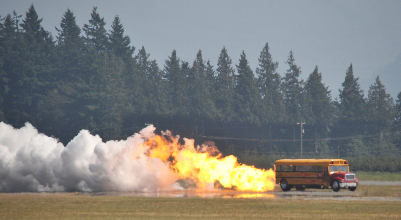 A jet powered school bus!