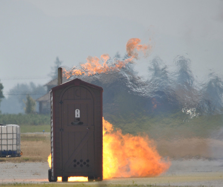 A jet powered outhouse!