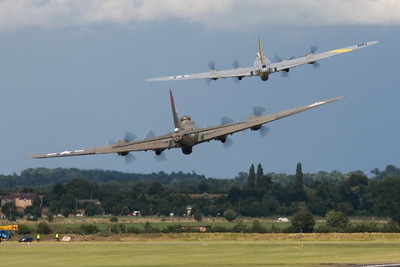 B17 Flying Fortress Bombers seen here at Flying Legends
