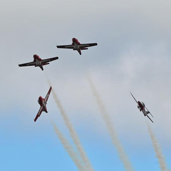 """CAF """"Snowbirds"""", 2010 Nova Scotia Int'l Airshow."""