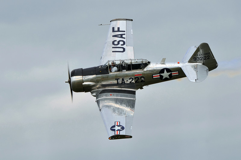 "AT-6 ""Texan"" piloted by Bill Leff,  Nova Scotia Int'l Airshow 2010."