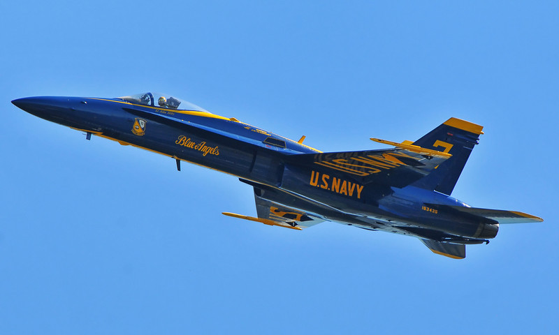 Blue Angel #3 passes by after the break