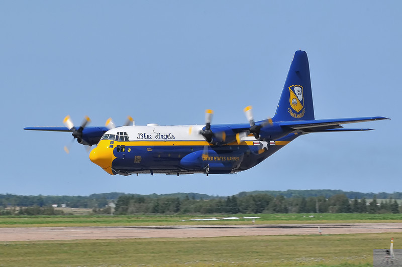 "The Blue Angels C-130, aka ""Fat Albert"" gets the show going with a flat pass"