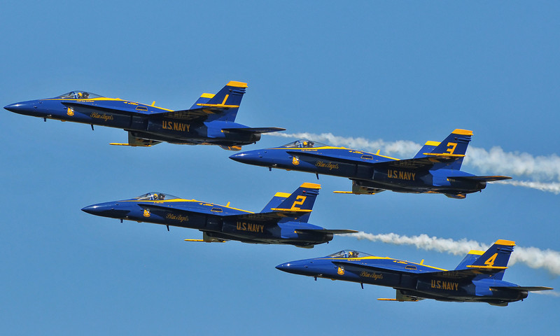 Blue Angels in Diamond formation