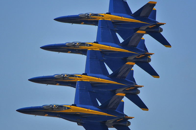 Blue Angels 1-4 Echelon Parade fly-by