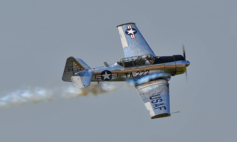 Bill Leff in his beautiful AT-6 Texan