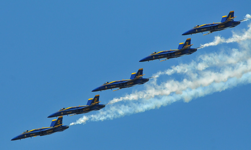 Blue Angels Line Abreast formation