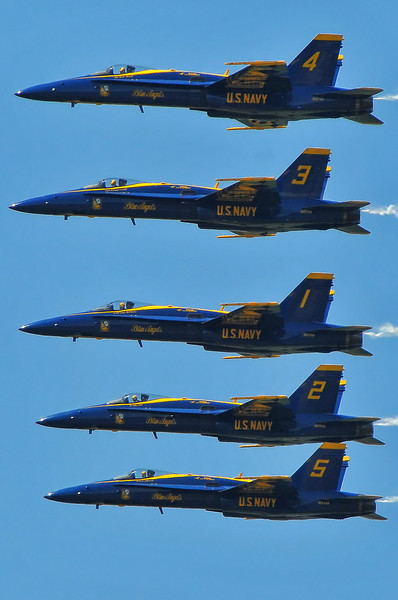 Blue Angels Echelon fly-by
