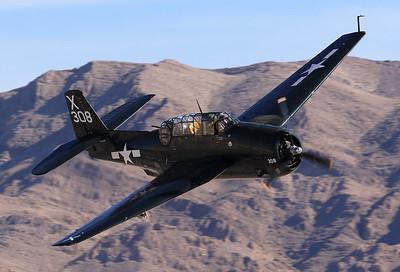 Grumman (GM) TBM-3E Avenger  REG: N7226C | CODE: 85938/308X  Las Vegas - Nellis AFB (LSV / KLSV) Nevada, USA November 11, 2017
