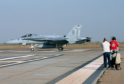 F-18 Hornet 163745 of VFA-106 and fellow photogs