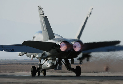 F-18 Hornet 163775 of VFA-106 Only in thrust you can trust!