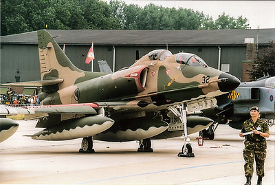 A 4 skyhawk twoseater Portugal air force
