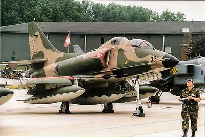 A 4 skyhawk twoseater Portugal air force