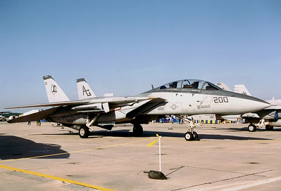 USA - Navy Grumman F-14B Tomcat  Pensacola - NAS / Forrest Sherman Field (NPA / KNPA) USA - Florida, November 1992 Reg: 163216 Code: AG-200 Cn: 577 VF-142 Ghostriders was a US Navy fighter squadron established on 24 Aug 1948 as VF-193. It was renamed VF-142 on 15 Oct 1963 and disestablished on 30 April 1995.