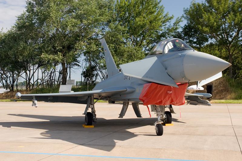 Eurofighter. Onderdeel van de static display op de open dagen van de luchtmacht.