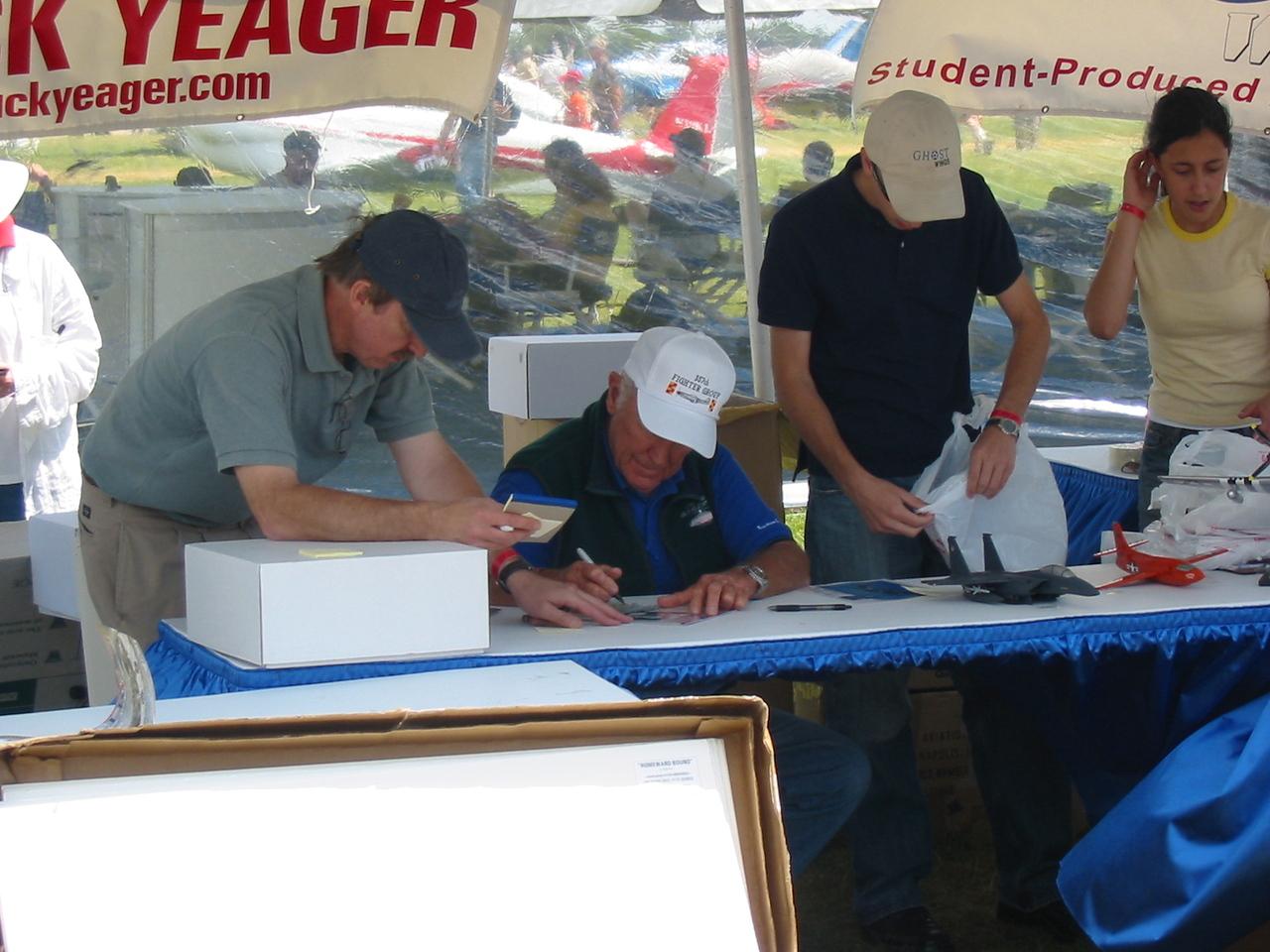 You want Chuck's autograph?  Twenty bucks.  It's for a charity, but still....