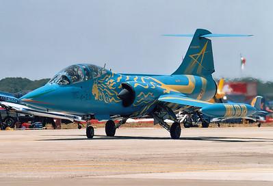 Italy - Air Force Lockheed TF-104G Starfighter  Pratica di Mare (- Mario de Bernardi) (LIRE) Italy, May 29, 2004  MM54253 (cn 583H-5204) The 4° Stormo special colour TF-104.