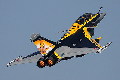 French Tiger Woman Rafale is seen departing in full afterburner for another NATO Tiger Meet 2009 mission.