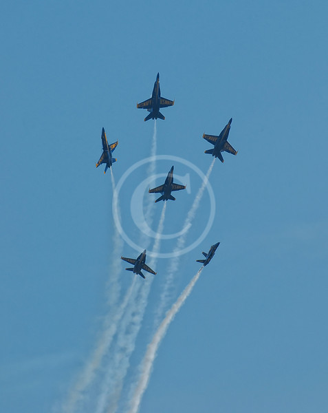 Navy Blue Angels formation