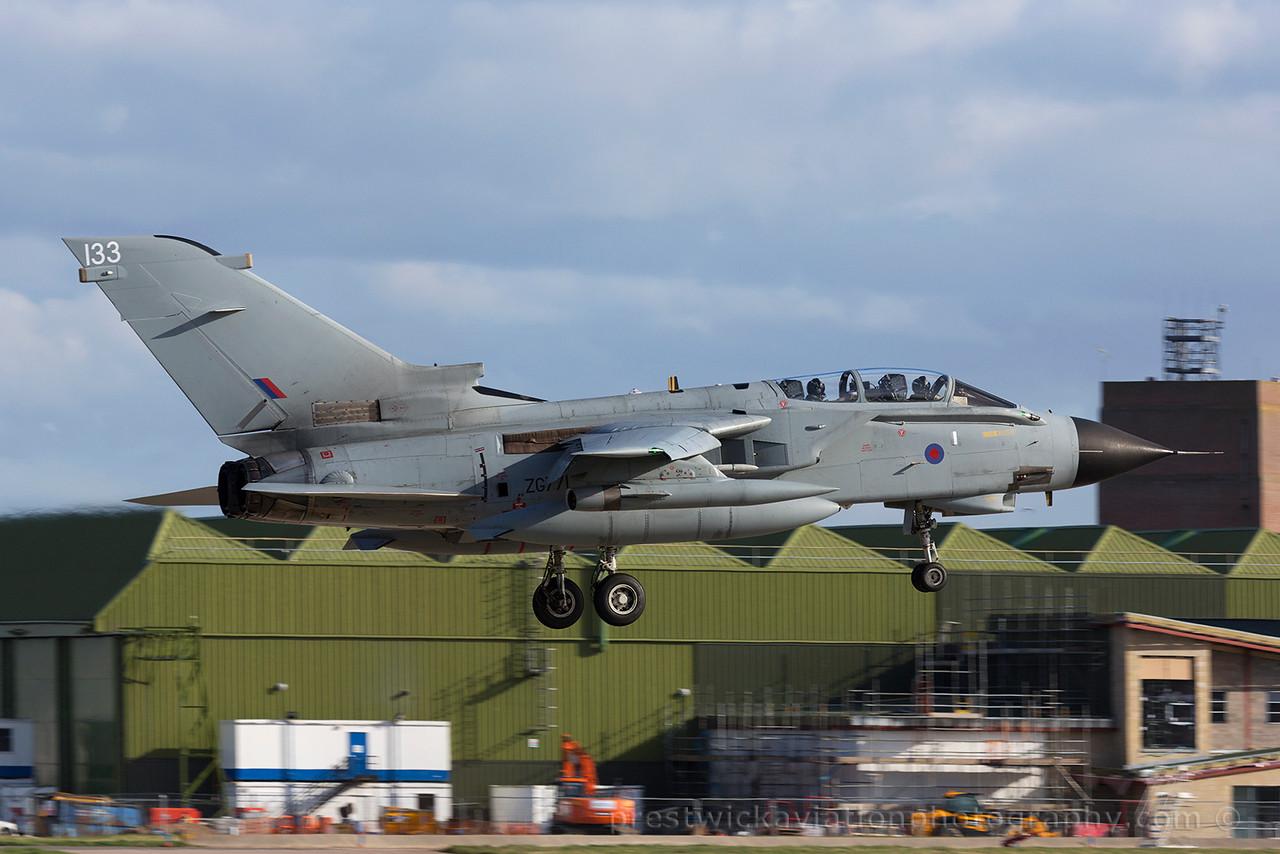 ZG771. Panavia Tornado GR4. RAF. Lossiemouth. 150415.