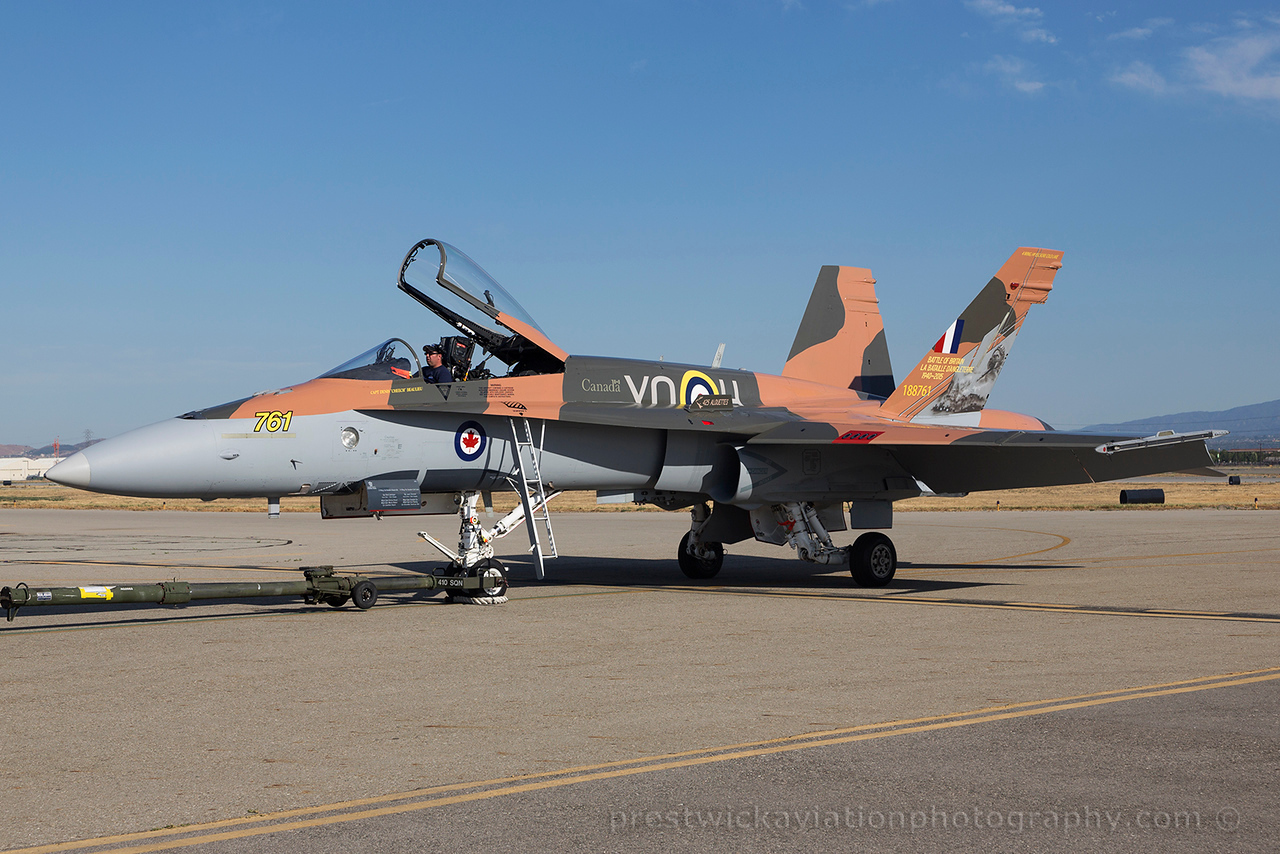 188761. McDonnell Douglas CF-188A Hornet. Canadian Air Force. Chino. 010515.