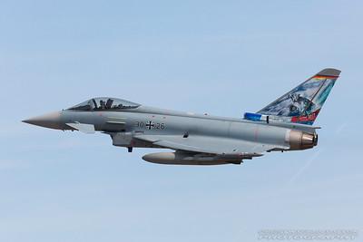 30+26. Eurofighter Typhoon EF2000. German Air Force. Fairford. 170717.