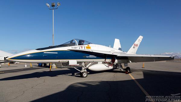 N850NA. McDonnell Douglas F/A-18A Hornet. NASA. Lancaster Fox Field. 250318.