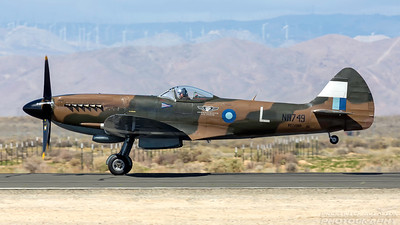 NH749. Supermarine 379 Spitfire FR14. CAF. Lancaster Fox Field. 250318.