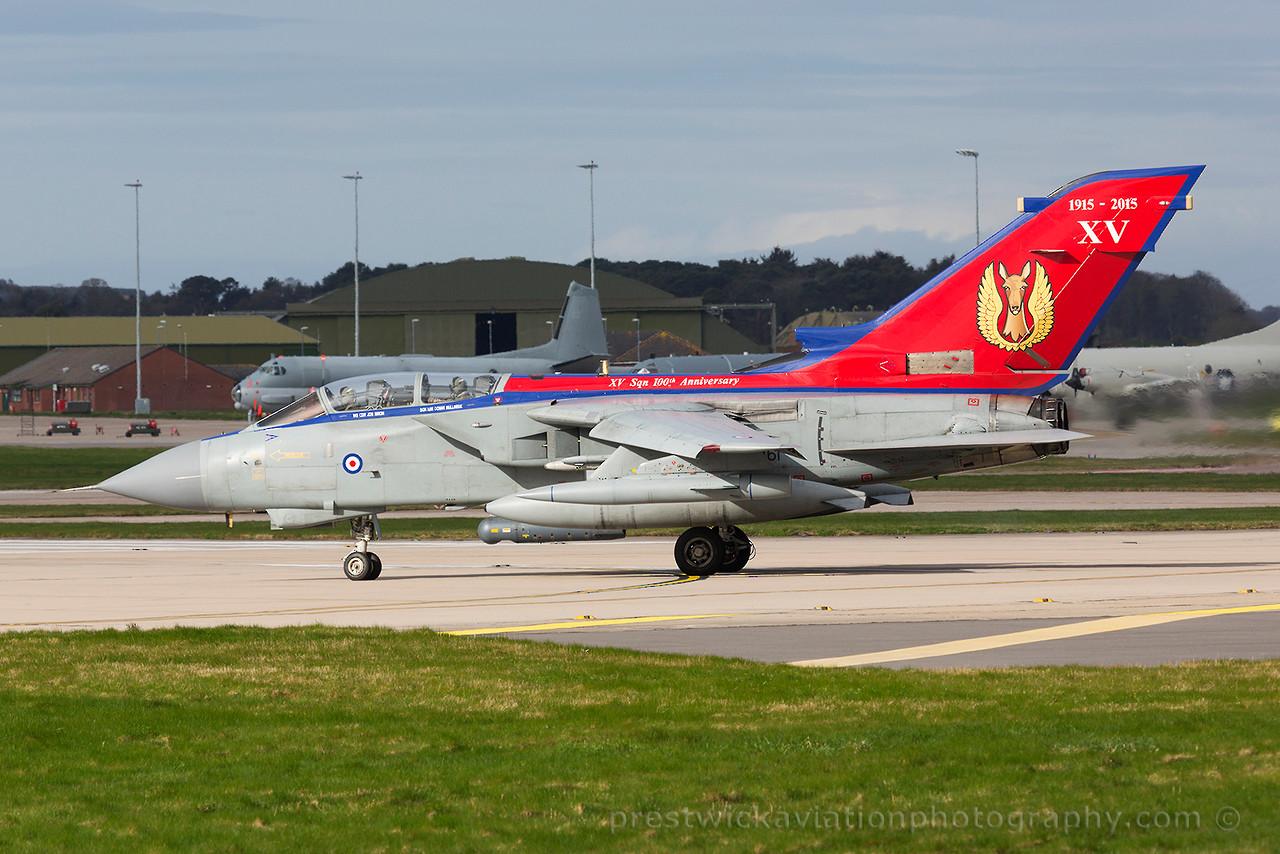 ZA461. Panavia Tornado GR4. RAF. Lossiemouth. 160415.