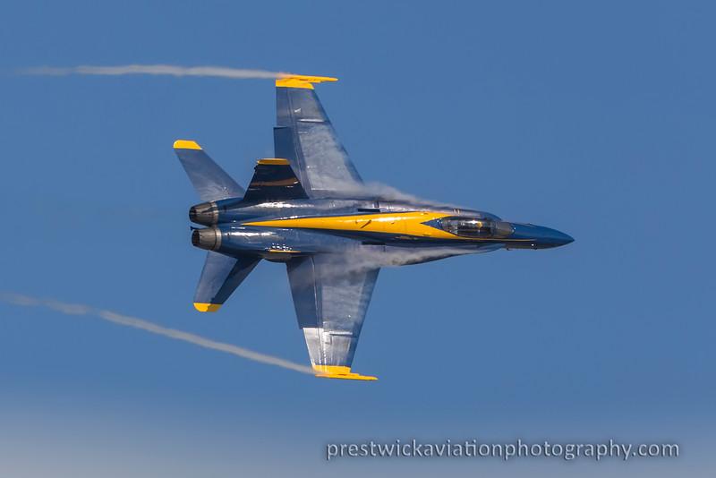 163443. McDonnell Douglas FA-18B Hornet. Blue Angels. Point Magu NAS. 260915.