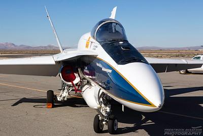 N850NA. McDonnell Douglas FA-18A Hornet. NASA. Lancaster Fox Field. 250318.
