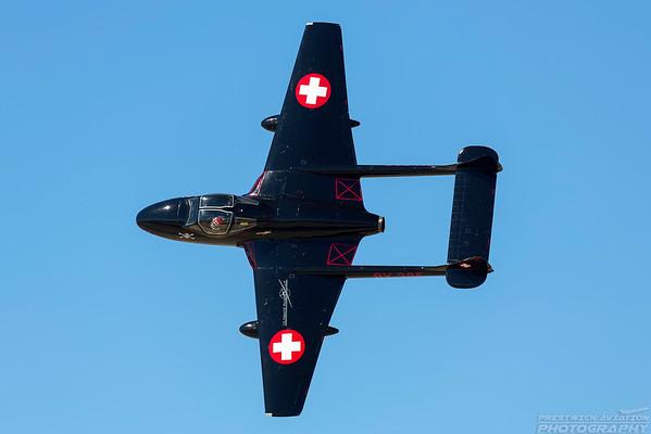 N172LA. De Havilland Vampire T.55. Swiss Air Force. Lancaster Fox Field. 250318.