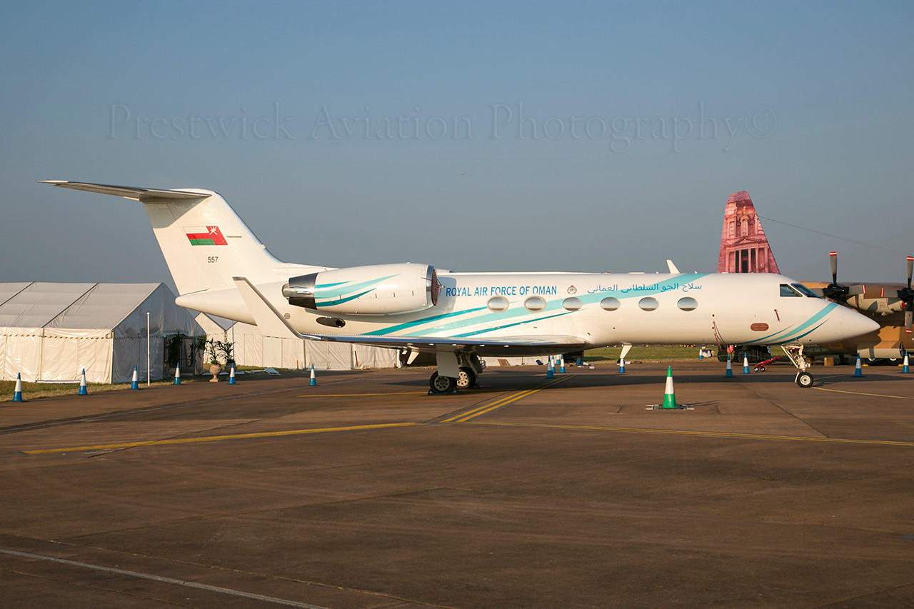 557. Gulfstream Aerospace Gulfstream IV. Omani Air Force. Fairford. 210713.