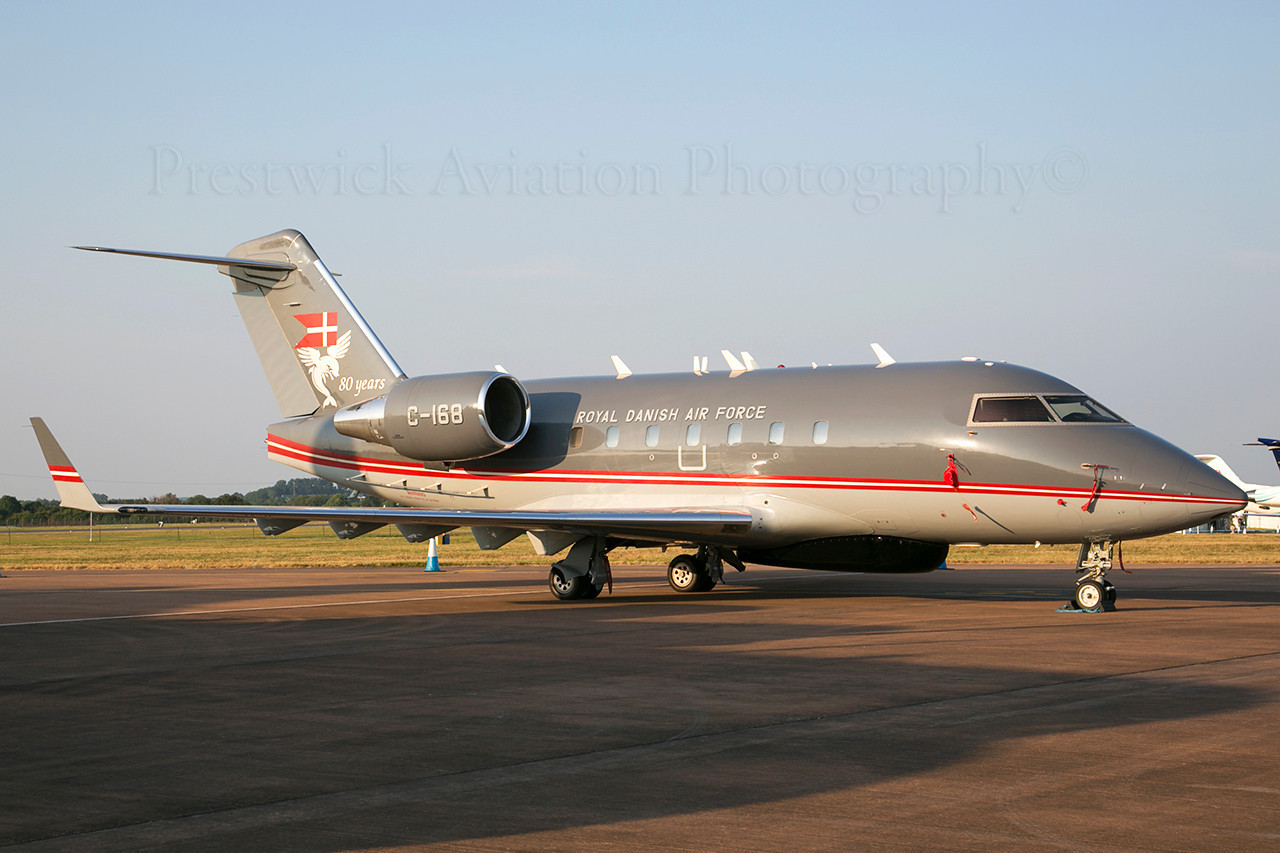 C-168. Canadair CL-600-2B16 Challenger 604. Royal Danish Air Force. Fairford. 210713.