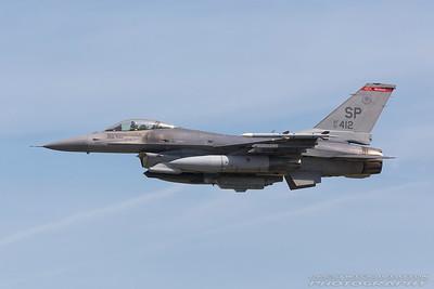 91-0412. General Dynamics F-16C Fighting Falcon. USAF. Fairford. 170717.