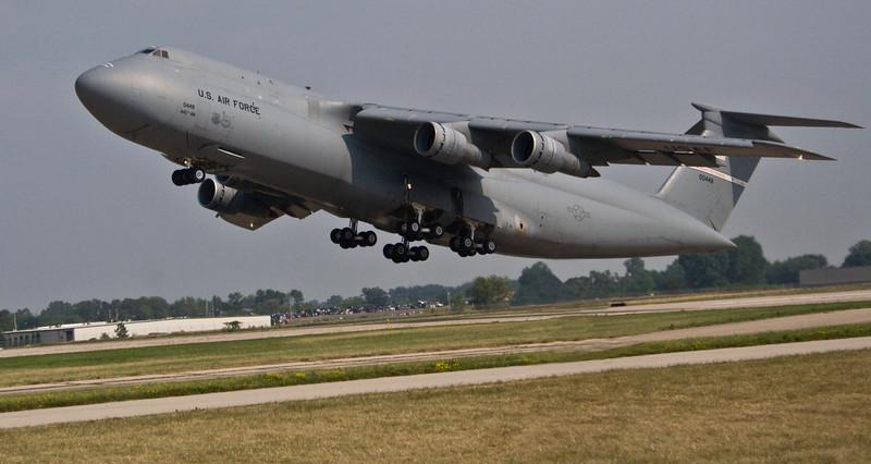 C-5 Galaxy takeoff.