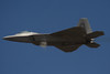 F-22 Raptor Stealth Fighter.  High-speed fly by.