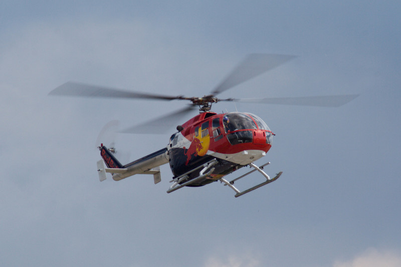 Red Bull Aerobatic Helicopter.