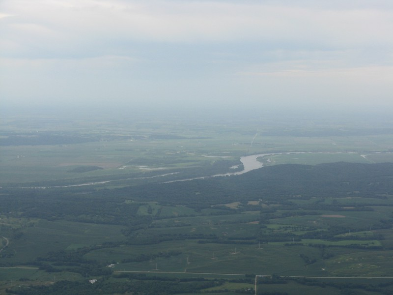 Looking south at the Missouri River.